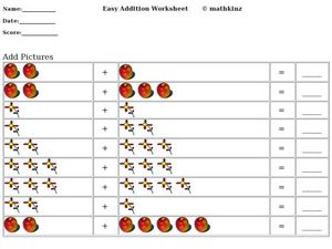 Easy Addition Worksheet Worksheet