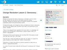 Democracy Lesson Plan