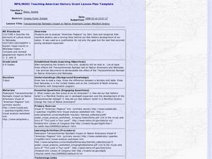 Transcontinental Railroads Impact on Native Americans Lesson Lesson Plan