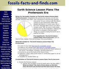 Earth Science Lesson Plans The Proterozoic Era Lesson Plan