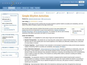Simple Rhythm Activities Lesson Plan