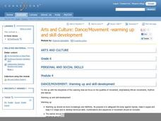 Arts and Culture: Dance/Movement - Warming Up and Skill Development Lesson Plan