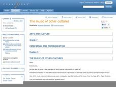 The Music of Other Cultures Lesson Plan
