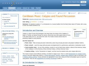Caribbean Music: Calypso and Found Percussion Lesson Plan