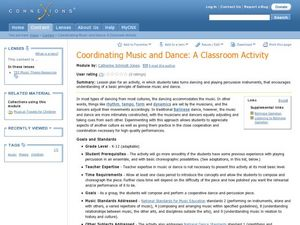 Coordinating Music and Dance: Lesson Plan