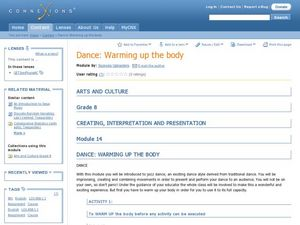 Dancing-Warming Up the Body Lesson Plan
