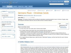 Germanic Music - Christmas Carols Lesson Plan