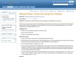 Mexican Music Lesson Plan