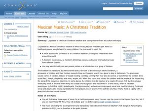 Mexican Music-A Christmas Tradition Lesson Plan