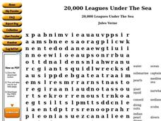 20,000 Leagues Under The Sea 7th - 8th Grade Worksheet | Lesson Planet