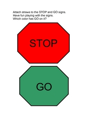 Stop and Go Signs Worksheet