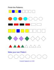 Finish the Patterns Worksheet