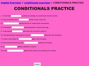 Conditionals Practice Worksheet