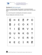 Word Search Game: Restaurant Words Worksheet