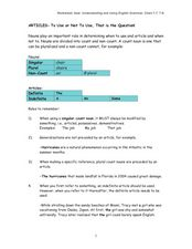 ARTICLES- To Use or Not To Use, That is the Question! Worksheet