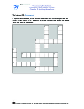 Vocabulary Crossword Puzzle Worksheet