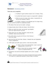 Vocabulary Practice: Present Time Worksheet
