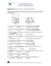 Adventure Tours: Vocabulary Practice Worksheet