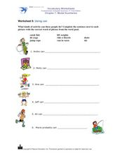 "Using ""Can"" Worksheet"