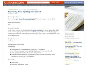 Improve Your Spelling with the Visual Thesaurus Lesson Plan
