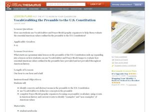 Vocab Grabbing the Preamble to the U.S. Constitution Lesson Plan