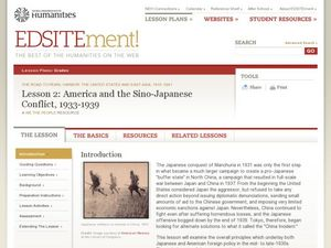 America and the Sino-Japanese Conflict, 1933-1939 Lesson Plan
