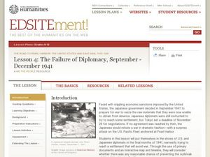 The failure of Diplomacy, September-December 1941 Lesson Plan