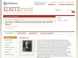 Wilson and American Entry into World War I Lesson Plan