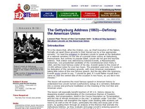 The Gettysburg Address (1863): Defining the American Union Lesson Plan
