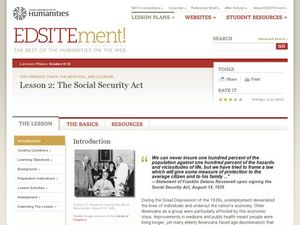 The Social Security Act Lesson Plan