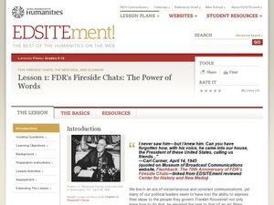 FDR's Fireside Chats: The Power of Words Lesson Plan