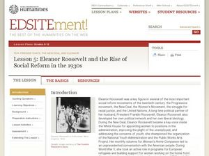 Eleanor Roosevelt and the Rise of Social Reform in the 1930's Lesson Plan