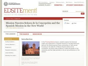 Mission Nuestra Señora de la Concepción and the Spanish Mission in the New World Lesson Plan