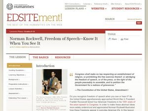 Norman Rockwell, Freedom of Speech: Know It When You See It Lesson Plan