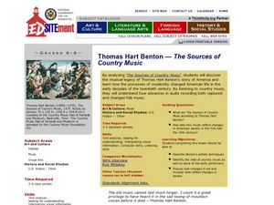 Thomas Hart Benton: The Sources of Country Music Lesson Plan