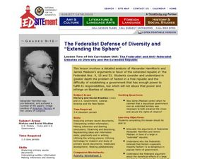 The Federalist Defense of Diversity: Extending the Sphere Lesson Plan