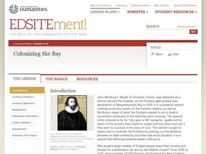 Colonizing the Bay Lesson Plan