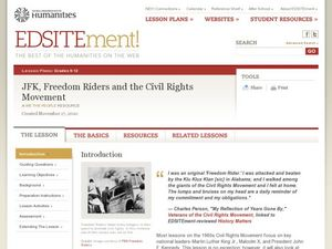 The Kennedy Administration and the Civil Rights Movement Lesson Plan