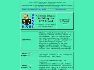 Genetic Jewels:  Building the DNA Model Lesson Plan