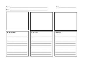 Basic Story Graphic Organizer Worksheet
