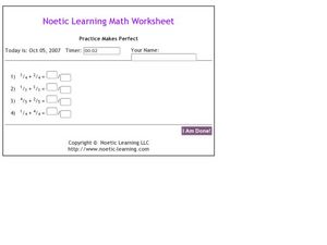 Noetic Learning Math Worksheet: Fractions Worksheet