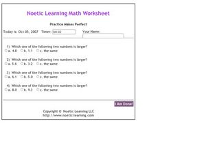 Noetic Learning Math Worksheet - Practice Makes Perfect Worksheet