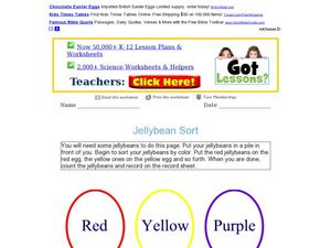 Jellybean Sort Worksheet