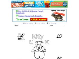 Letter Activity Sheet: K Worksheet