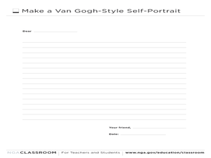 Make a Van Gogh-Style Self-Portrait Writing Prompt