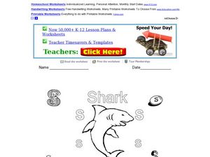 S is for Shark: The Letter S Worksheet