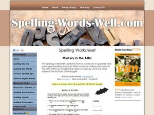 Spelling Worksheet? Worksheet