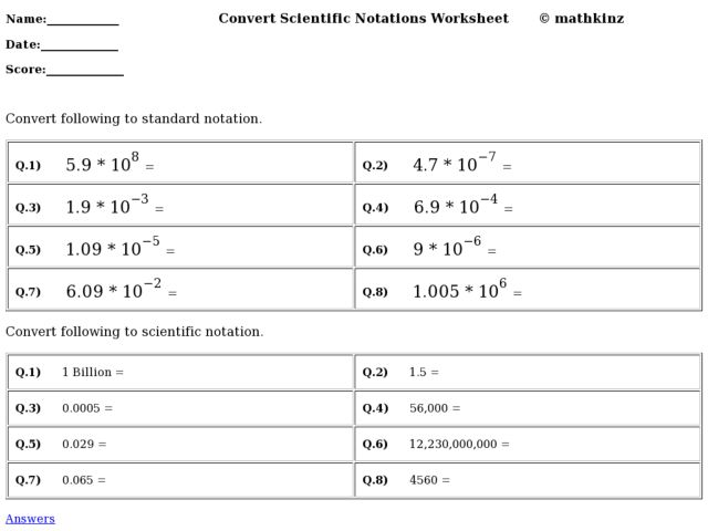 Notation Operations Worksheet Delibertad – Worksheet Scientific Notation