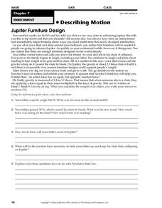 Describing Motion Worksheet