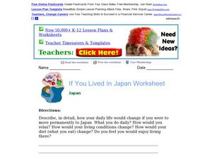 If You Lived In Japan Worksheet